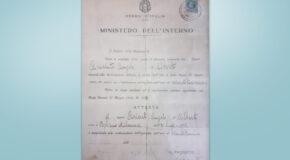 Diploma Vittorio Arienti 1934